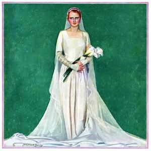 """""""Bride with Calla Lilies,""""June 1, 1931 by McClelland Barclay"""