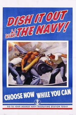 Dish it Out with the Navy! Poster by McClelland Barclay