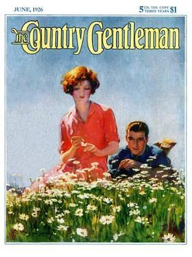 """""""Field of Dreams,"""" Country Gentleman Cover, June 1, 1926 by McClelland Barclay"""