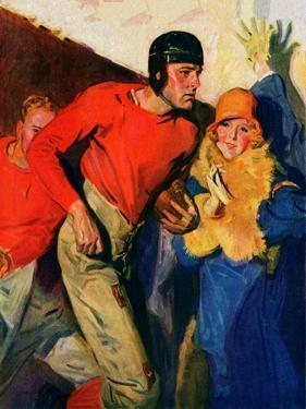 """""""Football Player and Fan,""""October 1, 1926 by McClelland Barclay"""