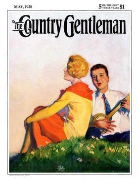 """Hillside Serenade,"" Country Gentleman Cover, May 1, 1928 by McClelland Barclay"
