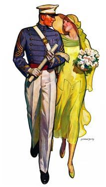 """""""Military Grad and Girl,""""June 7, 1930 by McClelland Barclay"""