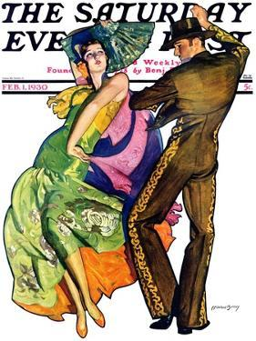 """""""The Flamenco,"""" Saturday Evening Post Cover, February 1, 1930 by McClelland Barclay"""