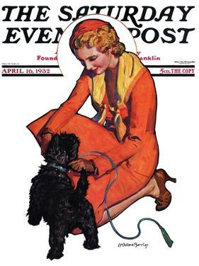"""Woman and Scottie,"" Saturday Evening Post Cover, April 16, 1932 by McClelland Barclay"