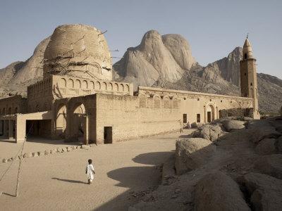 Khatmiyah Mosque at the Base of Taka Mountain, Kassala, Sudan, Africa