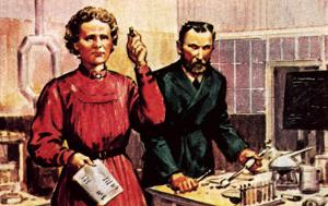 Pierre Curie and Marie Curie by McConnell