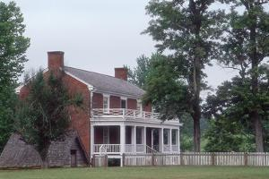 McLean House, Appomattox Court House, Virginia, Where Lee's Confederate Army Surrendered, 1865
