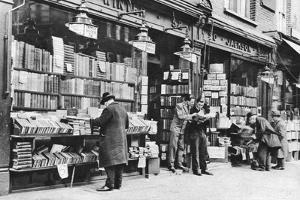 A Bookshop in Charing Cross Road, London, 1926-1927 by McLeish