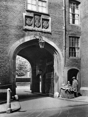 A Tudor Gateway Leading to Lincoln's Inn from Chancery Lane, 1926-1927 by McLeish