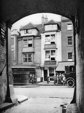 Old House and a Tavern Surviving in Aldgate, London, 1926-1927 by McLeish