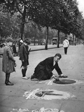 Pavement Artist, Embankment, London, 1926-1927 by McLeish