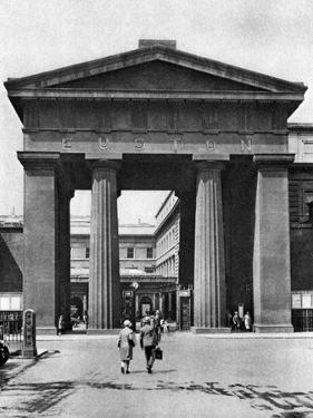 The Doric Arch Leading to Euston Station, London, 1926-1927 by McLeish