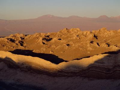 Eroded Mountains in the Valley of the Moon in the San Pedro De Atacama, Chile, South America