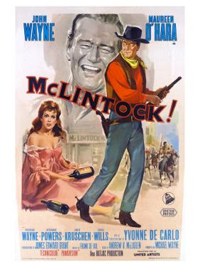 McLintock, Italian Movie Poster, 1963