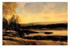 Bark Lake Sunset by McNeely