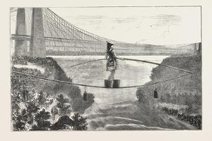 Mdlle. Spelterini Crossing the Niagara River on a Tight Rope