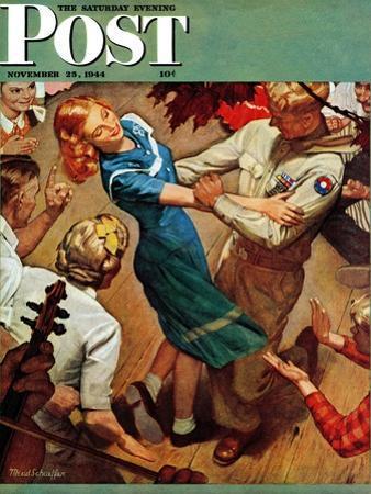 """Barn dance,"" Saturday Evening Post Cover, November 25, 1944"