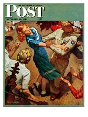 """""""Barn dance,"""" Saturday Evening Post Cover, November 25, 1944 by Mead Schaeffer"""