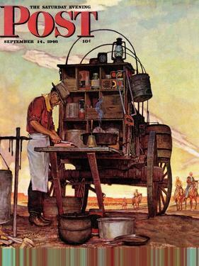 """""""Chuckwagon,"""" Saturday Evening Post Cover, September 14, 1946 by Mead Schaeffer"""