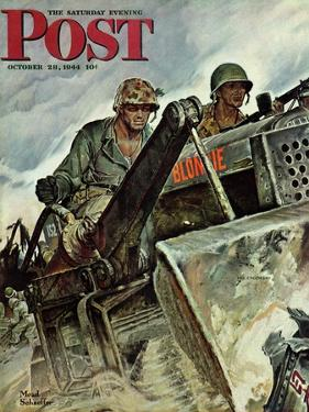 """Corp of Engineers,"" Saturday Evening Post Cover, October 28, 1944 by Mead Schaeffer"