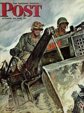 """""""Corp of Engineers,"""" Saturday Evening Post Cover, October 28, 1944"""