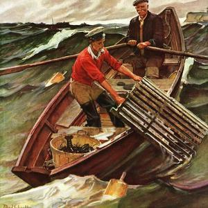 """Lobstermen,"" March 9, 1946 by Mead Schaeffer"
