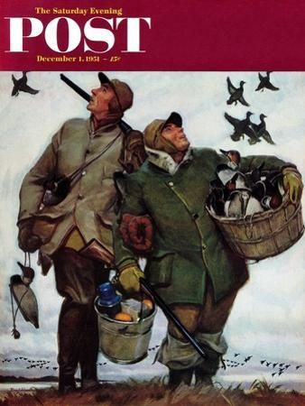 """""""Nothing but Decoys"""" Saturday Evening Post Cover, December 1, 1951"""