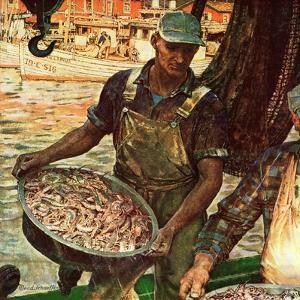 """Shrimpers,"" October 25, 1947 by Mead Schaeffer"