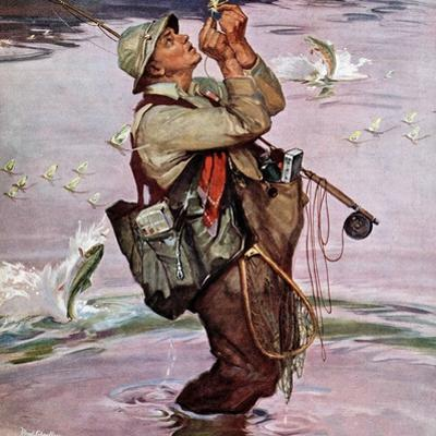 """""""The Fish are Jumping"""", May 19, 1951 by Mead Schaeffer"""