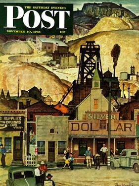 """""""The Silver Dollar,"""" Saturday Evening Post Cover, November 10, 1945 by Mead Schaeffer"""