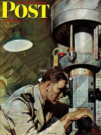"""Up Periscope!,"" Saturday Evening Post Cover, April 22, 1944"