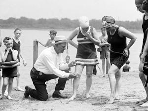 Measuring Bathing Suits, C.1922