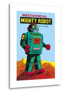 Mechanical Green Mighty Robot with Spark