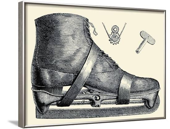 Mechanics of the Ice Skate--Framed Art Print