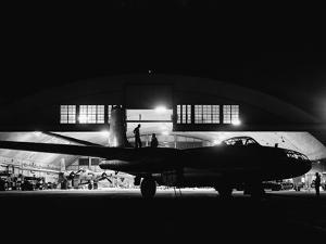 Mechanics Servicing a B-45 Bomber