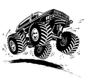 Cartoon Monster Truck by Mechanik