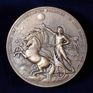 Medal Commemorating Pierre Janssen and Norman Lockyer, French and English Astronomers, 1868