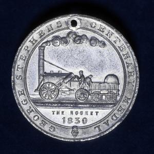 Medal Commemorating the Centenary of the Birth of George Stephenson, Railway Engineer, 1881