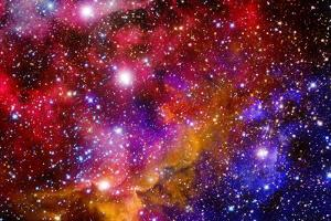 Stellar Field With Nebulae by Medardus