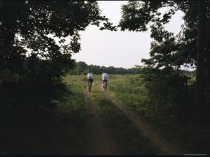 Cyclists on a Dirt Track in Virginias Northern Neck Region by Medford Taylor