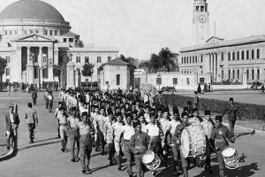 Medical Students Parade in Cairo, 1940
