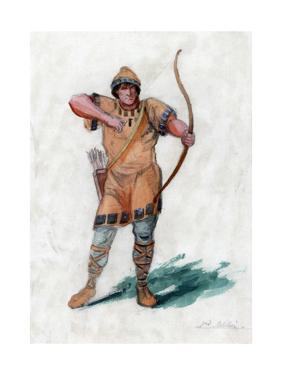 Medieval Man with a Bow