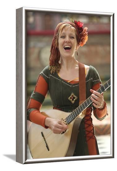 Medieval music, the medieval festival of Provins, Seine-et-Marne, Ile-de-France, France-Godong-Framed Photographic Print
