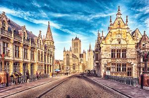Medieval Street Gent Belgium