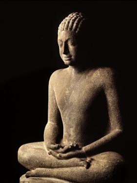 Meditating Buddha, Davaravati Period