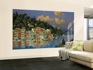 Mediterranean Small Huge Mural Art Print Poster