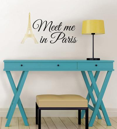 Meet Me in Paris Wall Art Kit