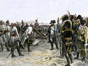 Meeting Between Napoleon and Mack Von Leiberich at Ulm, c.1805