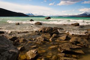 Rocky Shore of Lake Tekapo by Megan Ahrens