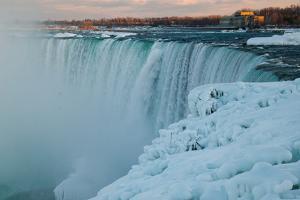 Wintertime at Niagara Falls by Megan Ahrens